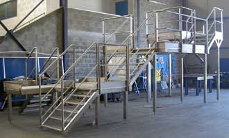 fabrication passerelle acces metallique
